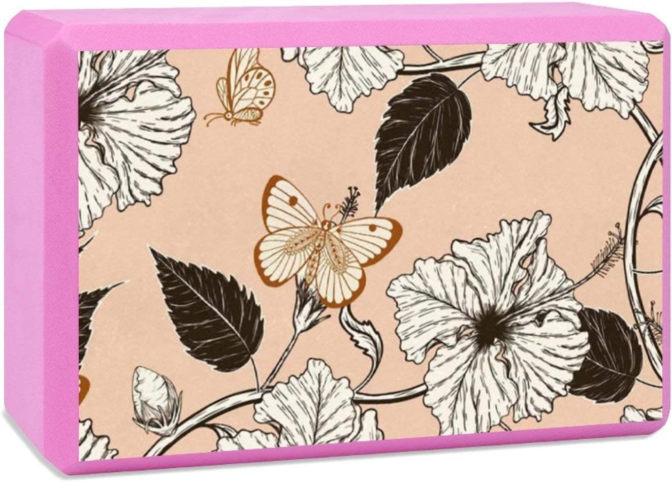 Saborz Yoga Block Butterfly and Hibiscus New product! New type Hi EVA Flower Anti-Tilt Credence