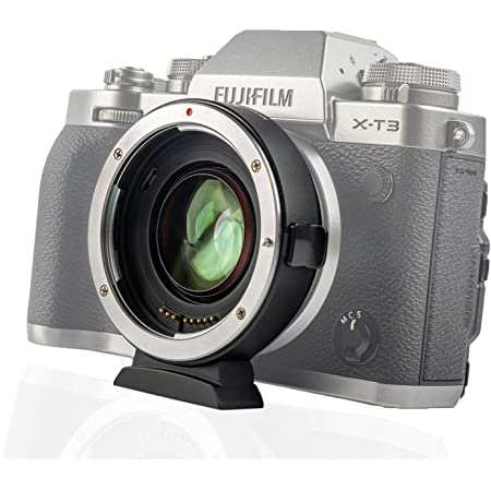 0.71x Speed Booster Lens Adapter for Canon EOS EF Tamron Sigma Lens to Fujifilm X-Mount Mirrorless Cameras XT3 XH1 XM1 XT1 XE3 XA XT100 XT20 XT2 XPro2 Series Viltrox EF-FX2 Auto Focus Reducer