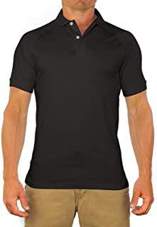 Comfortably Collared Men's Perfect Slim Fit Short Sleeve Soft Fitted Polo Shirt