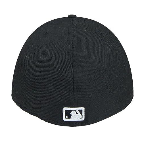 New Era Boston Red Sox MLB Basic Black White Fitted Hat Cap Men s 5950 eb9a6dc19c8