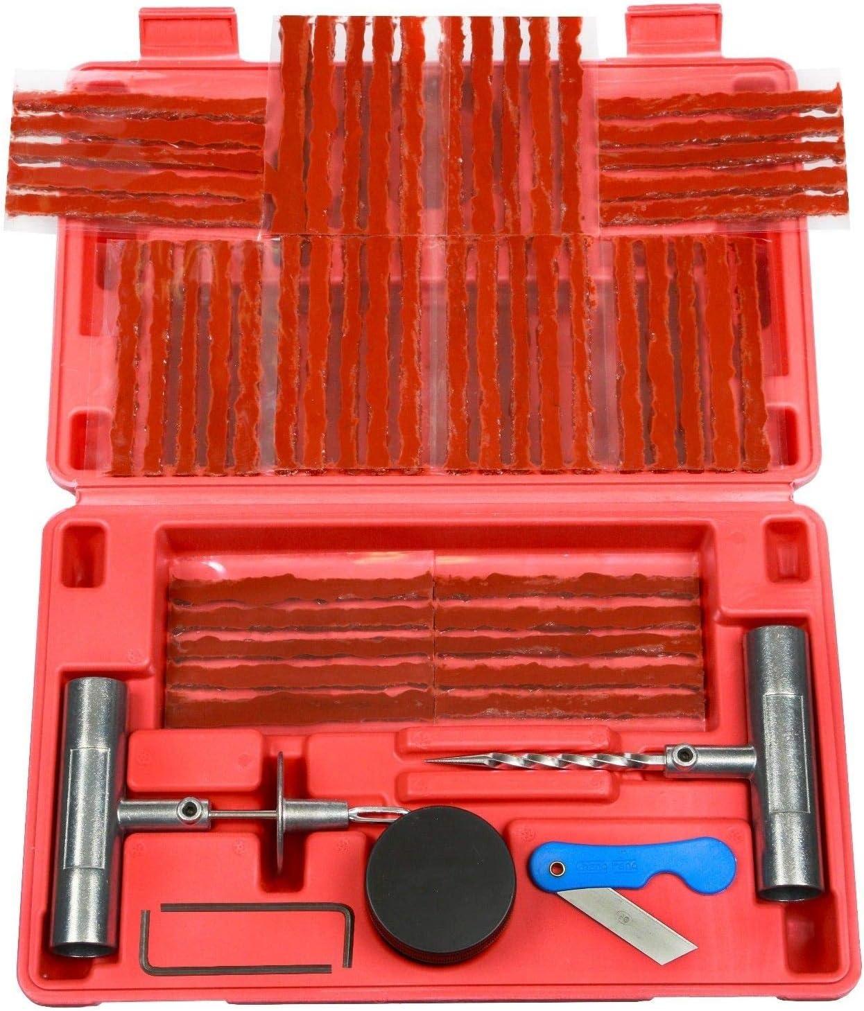 (Power Tool Parts) 57pc Tire Repair Kit DIY Flat Tire Repair Car