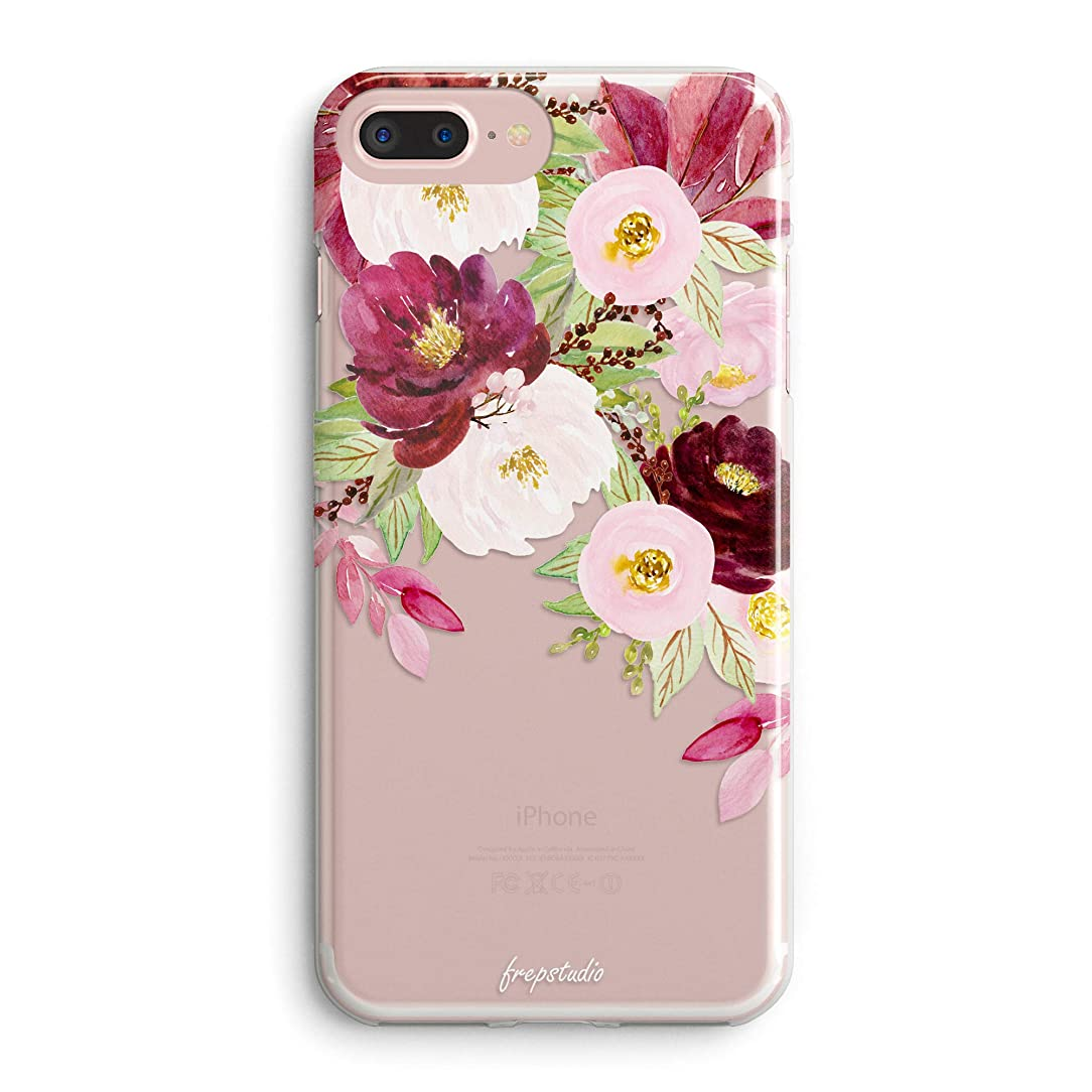 iPhone 5s Case,iPhone SE Case,Women Girls Roses Floral Flowers Daisy Tulip Blooms Obsession Camellia Trendy Red Cute Pretty Spring Summer Nature Clear Soft Case Compatible for iPhone SE/iPhone 5S