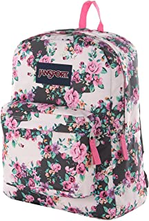 jansport classic superbreak backpack multi grey floral flouris