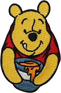 sq arms over head Winnie The Pooh iron-on//sew-on cloth patch