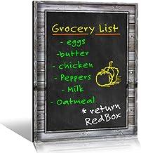 Smart Planner's Rustic Wood Black Magnetic Refrigerator Dry Erase ChalkBoard | Photo Realistic Chalkboard Design | Use Ver...