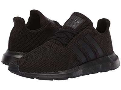 adidas Originals Kids Swift Run J (Big Kid) (Black) Kids Shoes