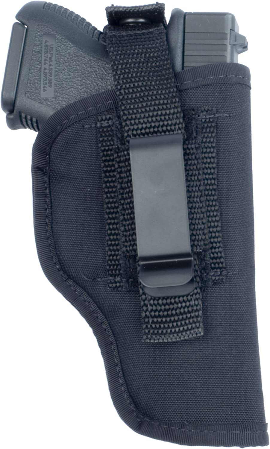Soft Armor inThePant or Hip Ambidextrous Nylon Gun Holster with Thumb Break Retention Strap