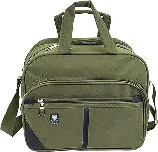 Storite Cross body Travel Office Business Messenger Shoulder Bag For Men Women -Horizontal Olive (33 x 19 x 26.5 cm)