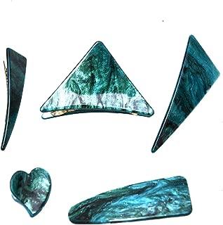 Monrocco 5 件套亚克力三角心形发夹几何发夹 鳄鱼发夹 发夹 发夹 发夹 发夹 女士发饰