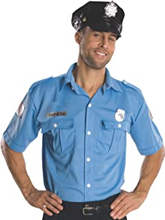 Costume Heroes And Hombres Adult Police Officer Shirt And Hat