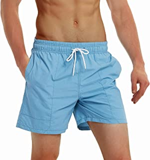 TBMPOY Men's Summer Quick Dry Swim Trunks Bathing Suit Board Shorts Mesh Lining