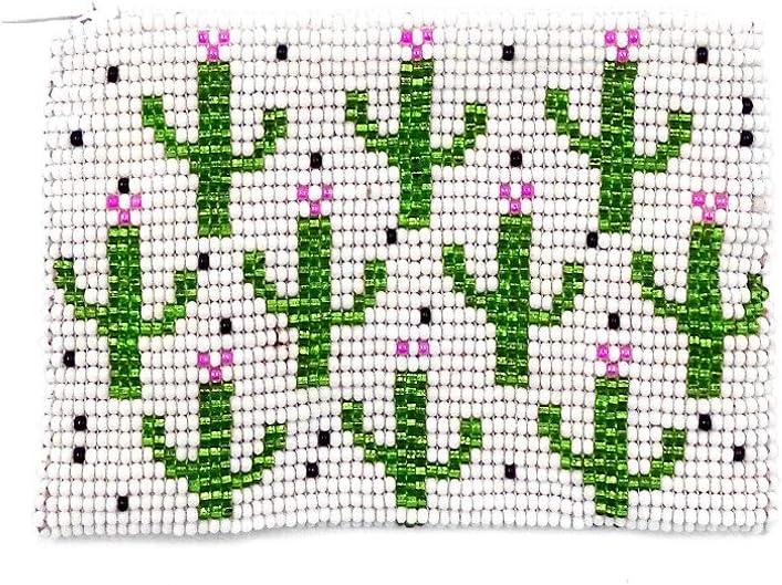 4 years warranty Multi Saguaro Cactus Pattern Czech Glass Coin 100% quality warranty! Seed Purse Beaded
