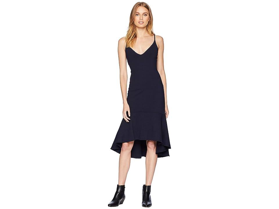 Susana Monaco Ruffle Hem Dress (Midnight) Women
