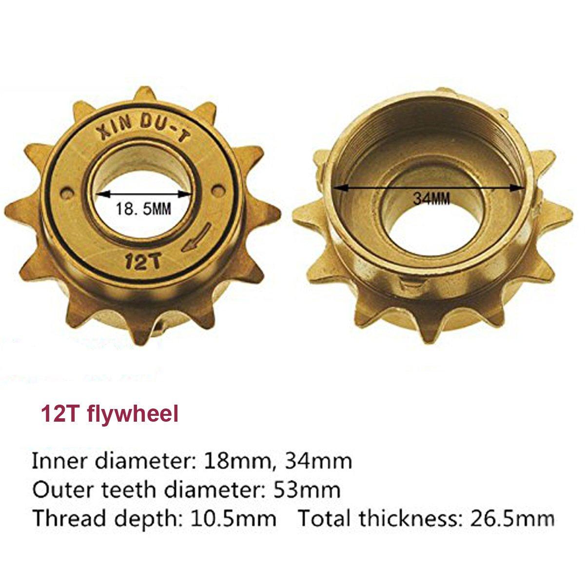 Bike Bicycle Single Speed Steel Freewheel Cog 12-18T Spinning Flywheel Accessory