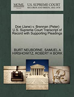 Doe (Jane) V. Brennan (Peter) U.S. Supreme Court Transcript of Record with Supporting Pleadings