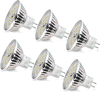 Wowatt 6er MR16 LED Warmweiss Led GU5.3 MR16 12V 6W Ersatz für 40W 35W 20W Halogen Lampe AC DC12V Kein Stroboskopeffekt GX...