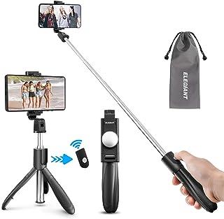 ELEGIANT Palo Selfie Trípode Selfie Stick Móvil Bluetooth para Viaje Autofoto Extensible de Control Remoto Monopié 3 en 1 Obturador Deportivo Rotación 360 Grados para iPhone XS Samsung Huawei Xiaomi