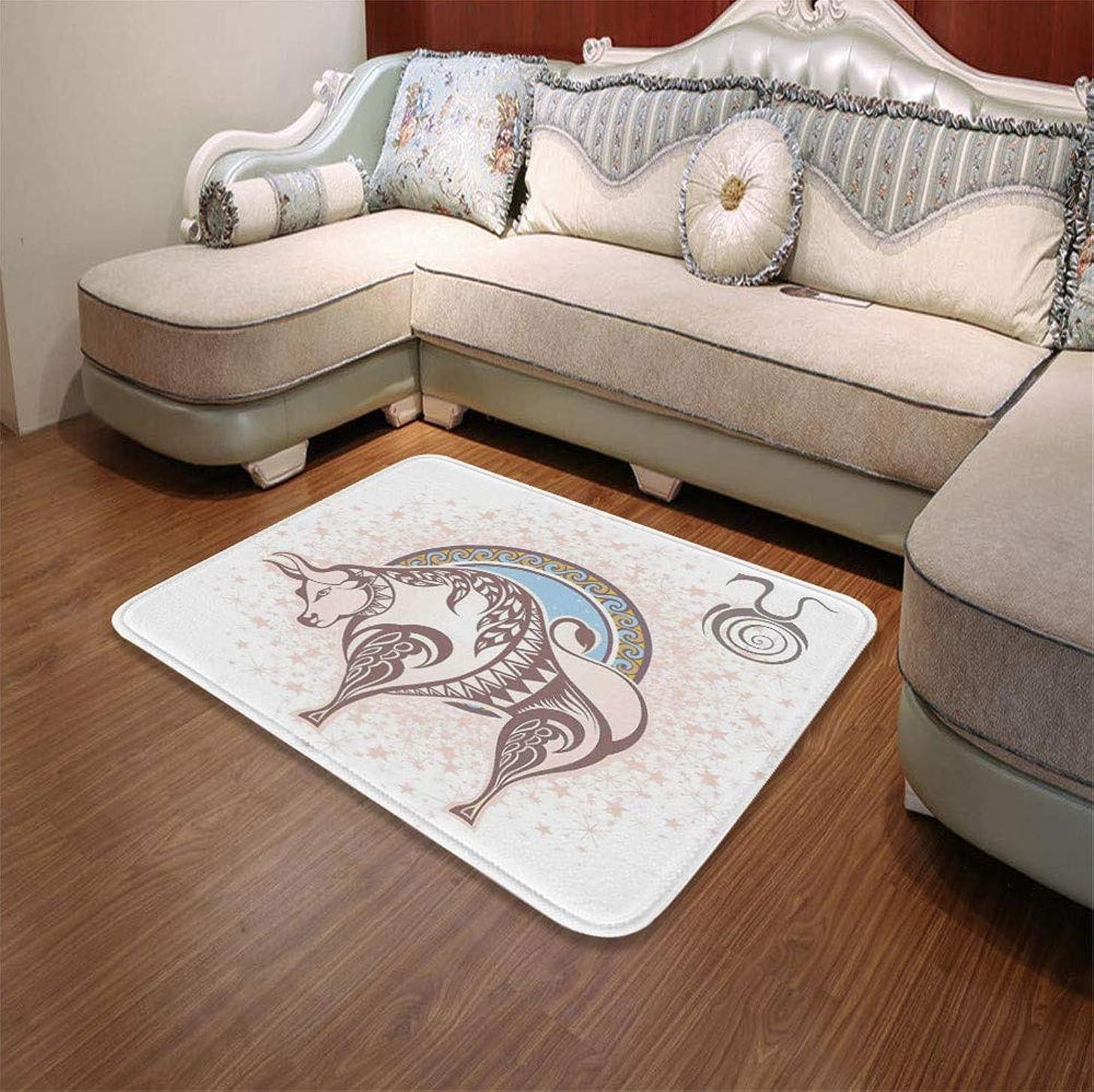 YOLIYANA Short Fur Floor Mat,Zodiac Decor,for Home Meeting Room,55.12