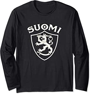 Sisu Finnish flag vintage distressed T Shirt Finland Suomi Manche Longue