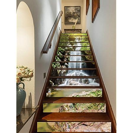 Details about  /3D Bule Hills 26 Stair Risers Decoration Photo Mural Vinyl Decal Wallpaper UK