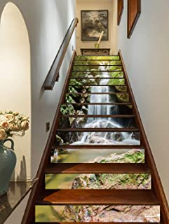 waterfall mural for stairs