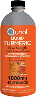 Qunol Liquid Turmeric Curcumin with Black Pepper 1000 Milligram, Supports Healthy Inflammation Response and Joint Support,...