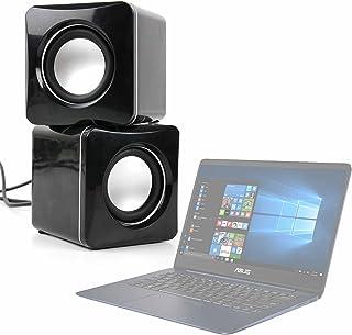 DURAGADGET Altavoces Compactos para Portátil ASUS ROG GL702VS-BA007T / ASUS VivoBook Flip 14 TP410UA-EC228T / ASUS ZenBook 3 Deluxe UX490UA-BE064T - Tamaño Mini - Conexión Mini Jack + USB