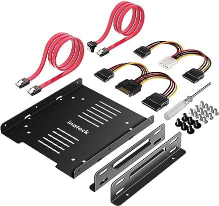 """Inateck 2 X 2,5"""" HDD/SSD a 3,5 Incasso quadro Set intern, Supporto, dischi rigidi, compreso 2 X SATA cavo dati e 2 X cavo di alimentazione (ST1004)"""