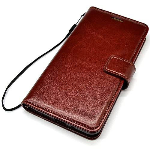 ad5a22b2cf Bracevor iPhone 5 5s SE Wallet Leather Stand Case Flip Cover - Executive  Brown