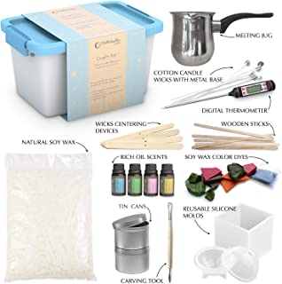 Candle Making Kit – Wax and Accessory DIY Set for The Making of Scented Candles - Easy to Make Colored Candle Soy Wax Kit – Without Batteries