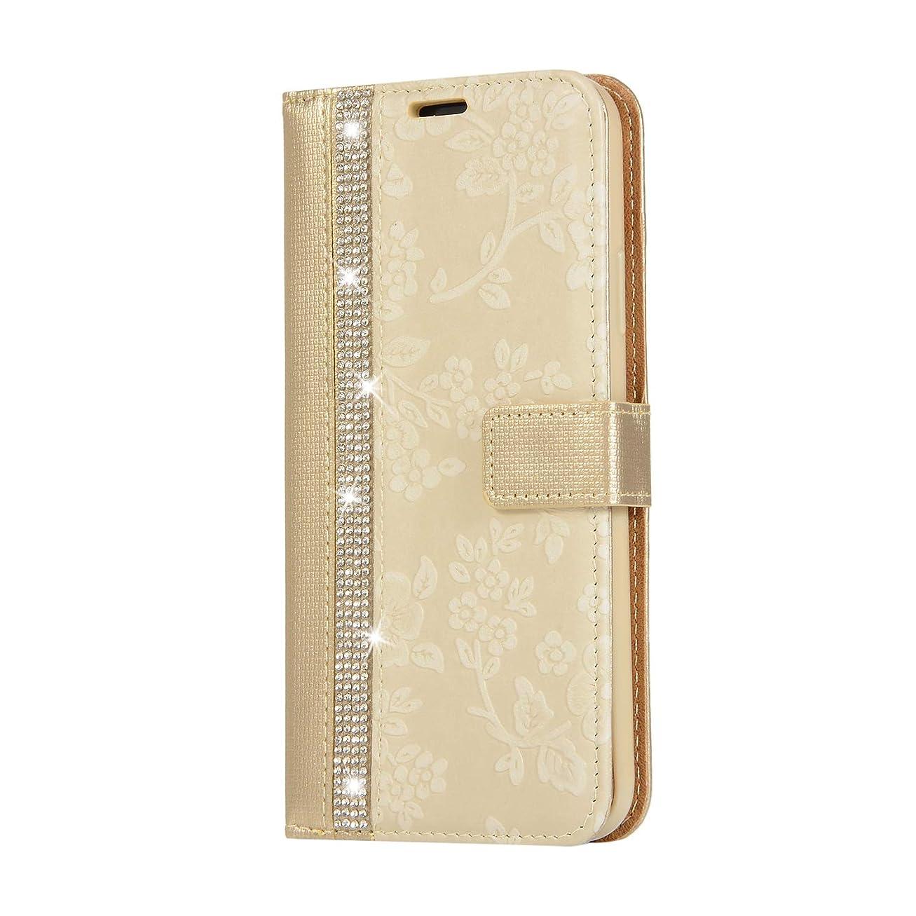 リードエンドウ添加CUNUS iPhone 11 Pro 用 ウォレット ケース, プレミアム PUレザー 全面保護 ケース 耐衝撃 スタンド機能 耐汚れ カード収納 カバー, ゴールド