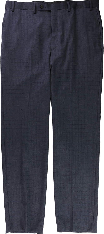 Ralph Lauren Mens Windowpane Casual Trouser Pants, Blue, 36W x 34L