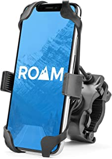 Roam Universal Premium Bike Phone Mount for Motorcycle - Bike Handlebars, Adjustable, Fits iPhone 11, X, XR, 8 | 8 Plus, 7 | 7 Plus, 6s Plus | Galaxy, S10, S9, S8, Holds Phones Up to 3.5