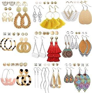 47 Pairs Fashion Earrings for Women Girls, Boho Statement...