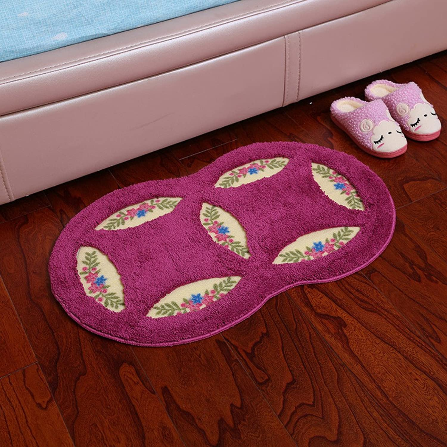 Bathroom Water-Absorption mat doormats Doormat Tatami mat Bedroom Bedside Kitchen Water Absorbent Anti-Slip mat Carpet-D 50x80cm(20x31inch)