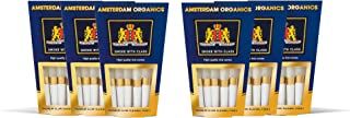 Amsterdam Organics King Size pre roll Cones 6 9 Packs of Rice (6)