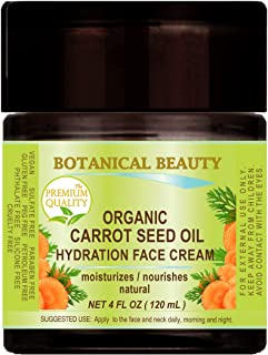 ORGANIC CARROT SEED OIL HYDRATION FACE CREAM. For NORMAL to DRY SKIN. (4 Fl. oz - 120 ml.)