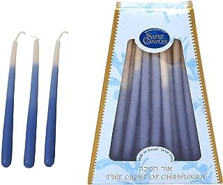 TriColor Blue & White Chanukah Candles