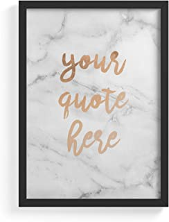 Personalised Customizable Motivation Or Inspiration Quote Text Custom White Marble Frameless Poster Illustration Art Print for Stylish Decorations - Wall Art Size A4 21 cm x 29,7 cm.