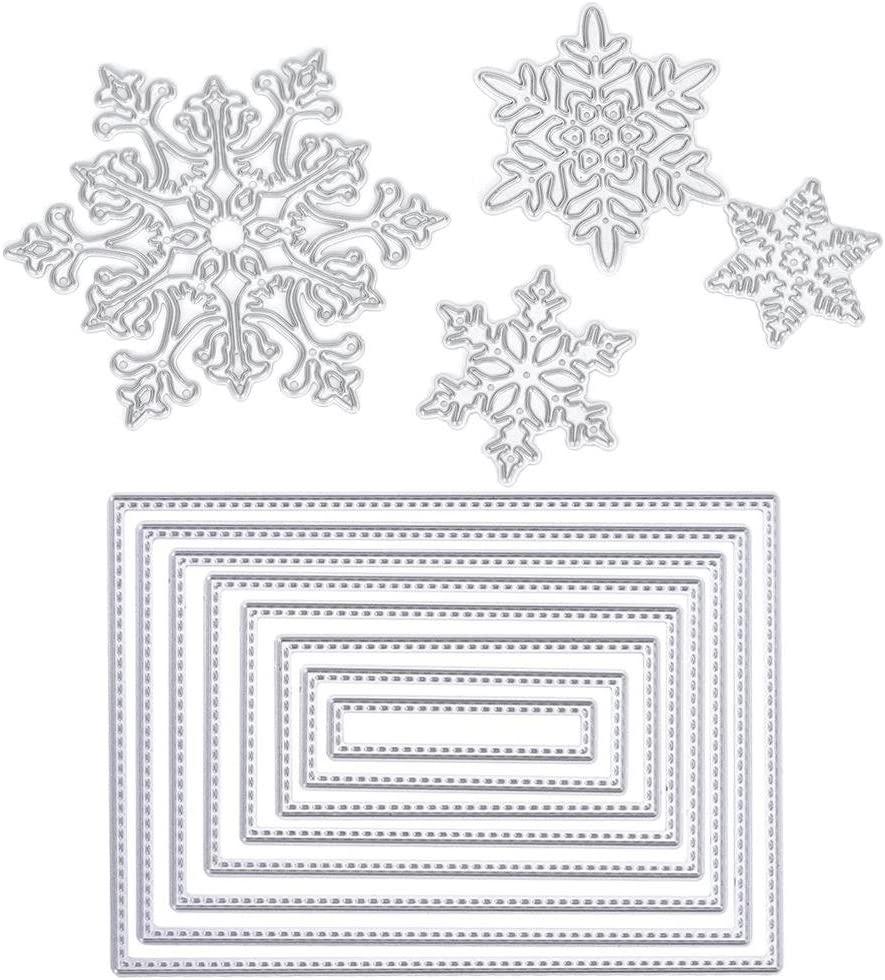 Sales of SALE items from new works CosCosX 1 Set 8 Pcs Rectangle 4 Snowflake Shape Complete Free Shipping Cut Cutting