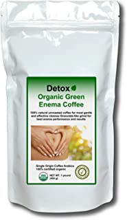 Detox Organic Green Enema Coffee (1 pound) - Germany's No.1 for therapy (Gerson), weight loss, detox and cleansing