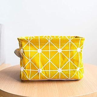 Dongyd Boîtes de rangement en tissu, panier de rangement pliable avec poignée, impression coton et lin, 20 x 15 x 13 cm (c...