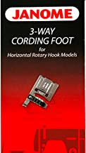 3-Way Cording Foot for #200345006 Janome Horizontal Rotary Hook Models
