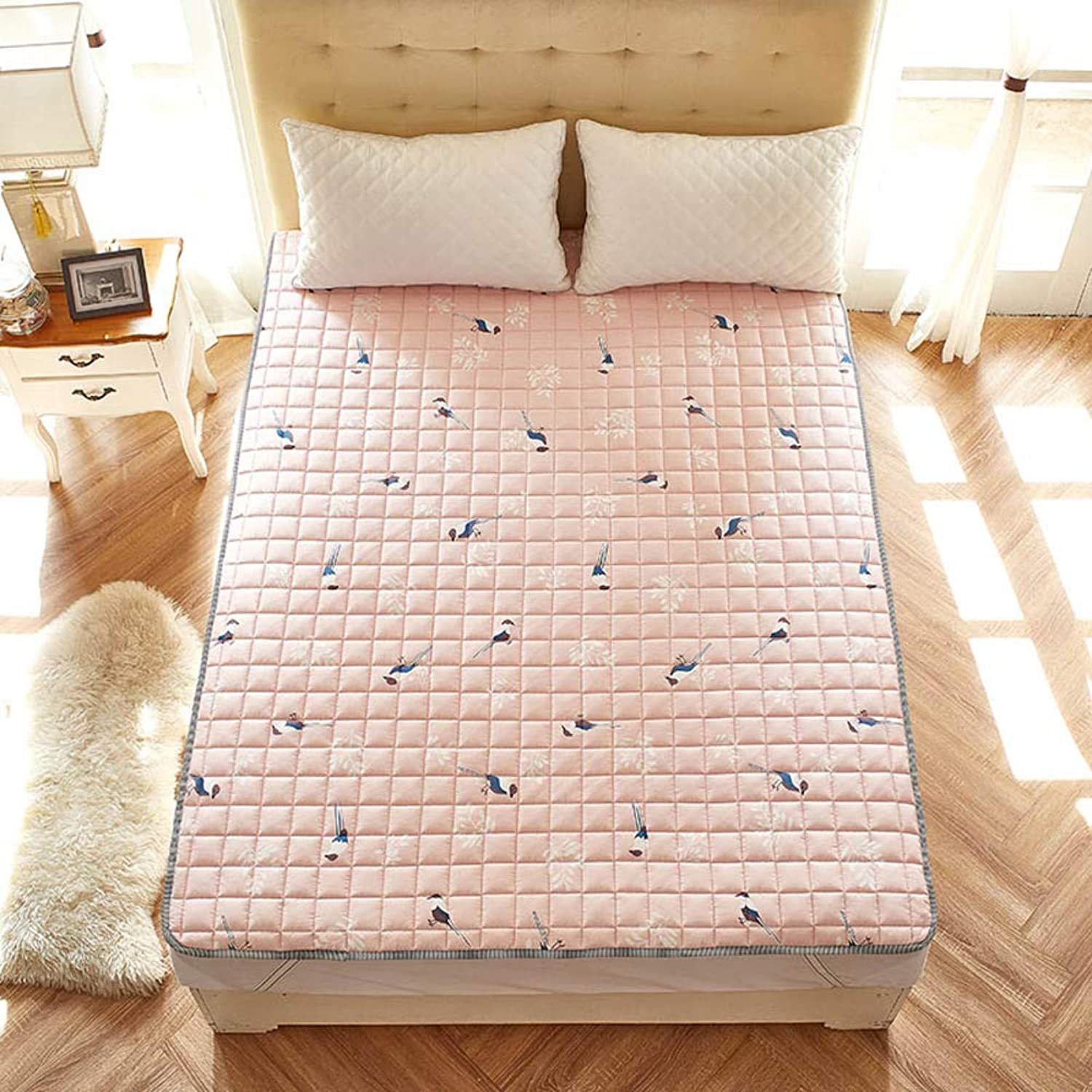 Foldable Mattress,100% Cotton Thin Mat Cushion Washable for Household-I 200x220cm(79x87inch)