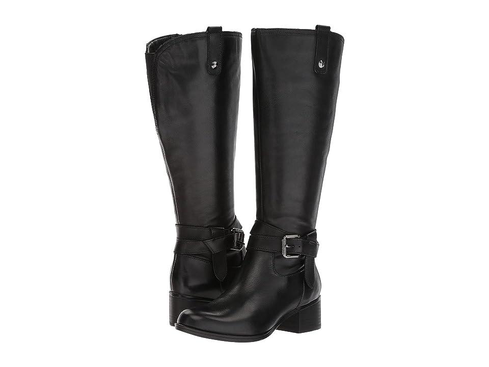 Naturalizer Dev Wide Calf (Black Leather) Women