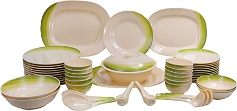 Royalford Dinner Set 64Pcs, Melamine, Multi Color - Rf8101