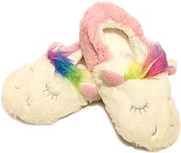 Nicole Miller Toddler Girls Unicorn Slipper with Rainbow Hair Premium Soft Plush Shoes 1 Year - 5 Years