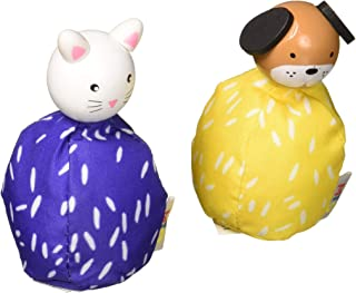 Manhattan Toy MiO Wooden Bean Bag Animal Peg Doll Toys - Dog & Cat Imaginative Play Characters