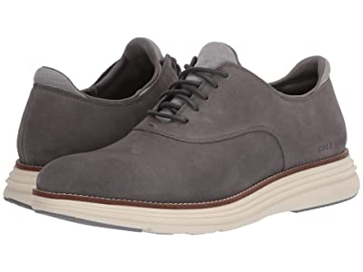 Cole Haan Original Grand Ultra Plain Toe Ox (Ironstone Suede/Ivory) Men