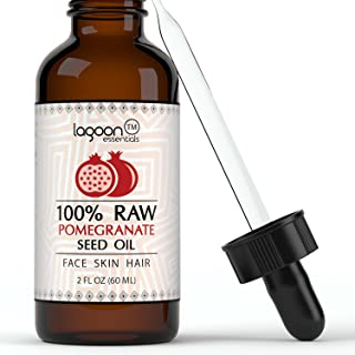 100% PURE Pomegranate Seed Oil Cold Pressed Unrefined. For Skin, Hair, Nails, Acne, Wrinkles, Psoriasis, Eczema and much more. Lagoon Essentials (2 FL OZ)
